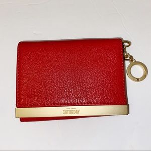 Kate Spade Saturday Red Coin Card Wallet NWT